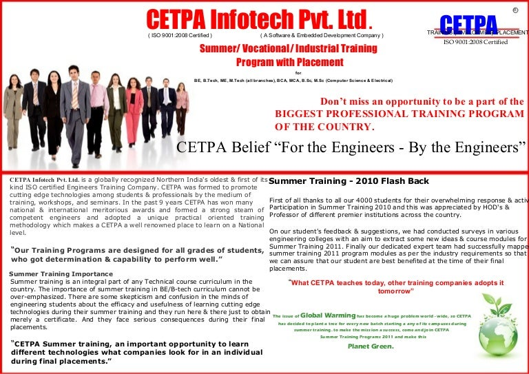 6 weeks training for b tech students yelopaper Choice Image
