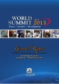 UPF World Summit 2013 on Peace, Security and Development