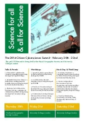 The 3rd Citizen Cyberscience Summit 2014