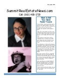 Summit Valencia ca real estate newsletter by top summit realtor Connor with honor December 2018