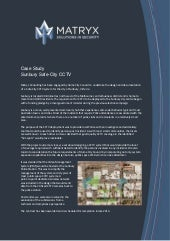 Security Consulting Case Study - Sunbury Safe City CCTV