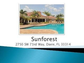 Sunforest Apartments, Davie, FL