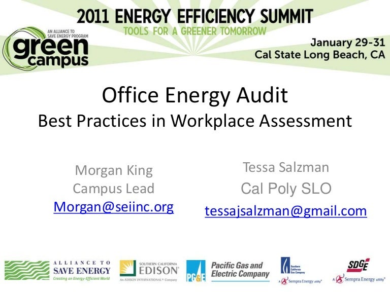Office Energy Audit Best Practices In Workplace Assessment