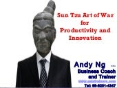 Sun Tzu Art of War for Productivity and Innovation