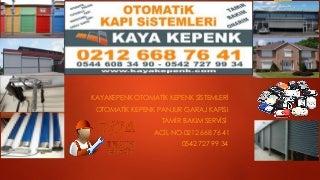 BAHÇELİEVLER KEPENK SERVİSİ 0542 727 99 34