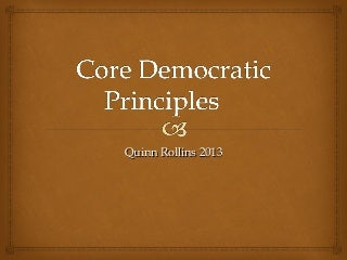 Superheroes as 7 Core Democratic Principles