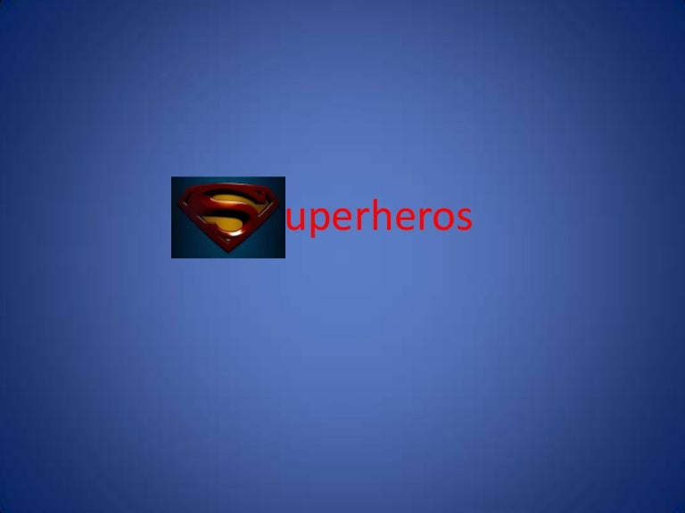 superheroes power point
