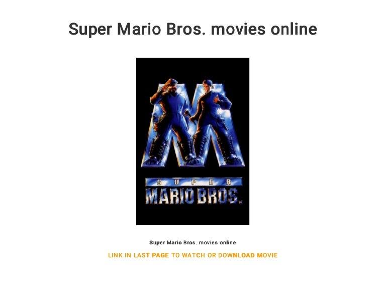 Super Mario Bros Movies Online