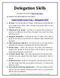 Super Simple Success Tips   Delegation Skills