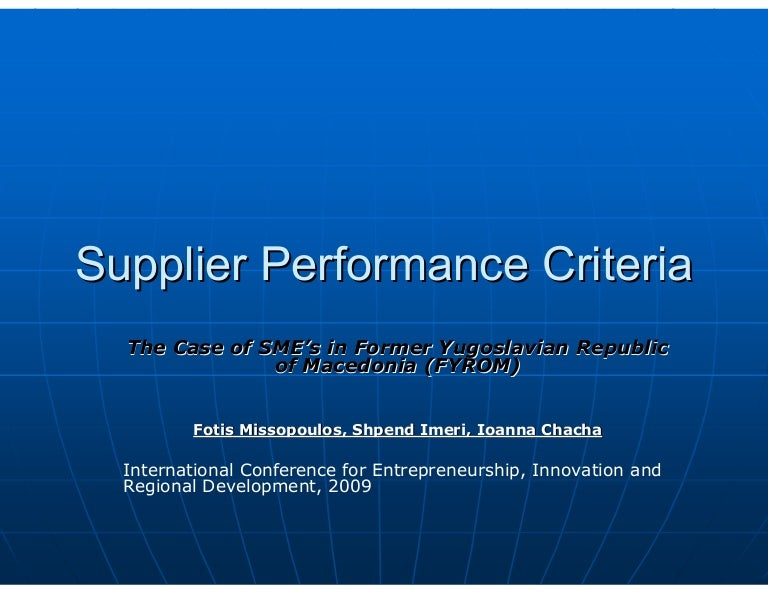 Learn how to Better Manage Supplier Risk and Performance Scribd     supplier performance  see Figure     In this case