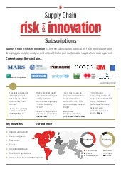 Supply Chain Risk & Innovation brochure