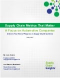 Supply Chain Metrics That Matter – A Focus on Automotive Companies 2017