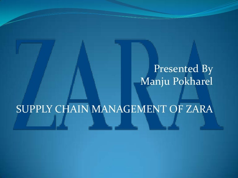 Supply chain management of zara toneelgroepblik