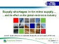 Supply Shortages In Tin Mine Supply - Sept 2012 - John P. Sykes - Greenfields Research / ITRI