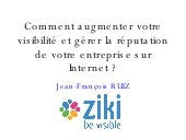 Support Ziki au 2ème Forum E-marketing
