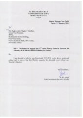 Support letter from ministry of coal   go i (31 jan 2012)