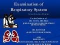 RESPIRATORY SYSTEM EXAMINATION IN PEDIATRICS