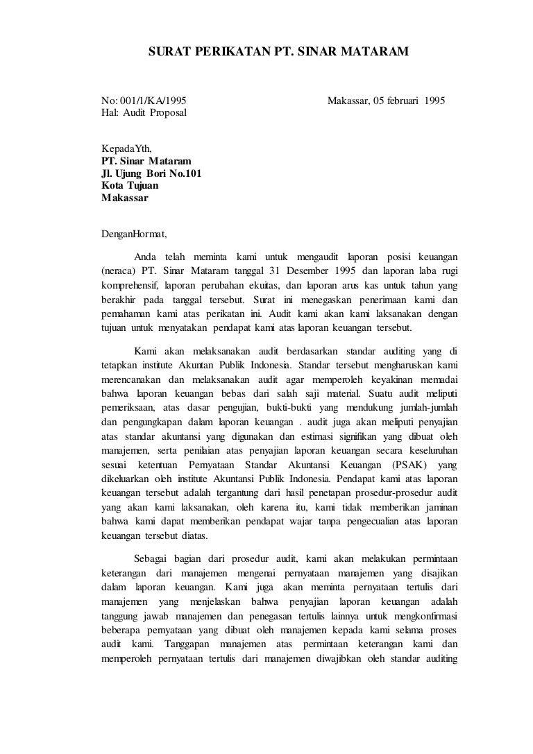 Contoh Surat Pernyataan Audit