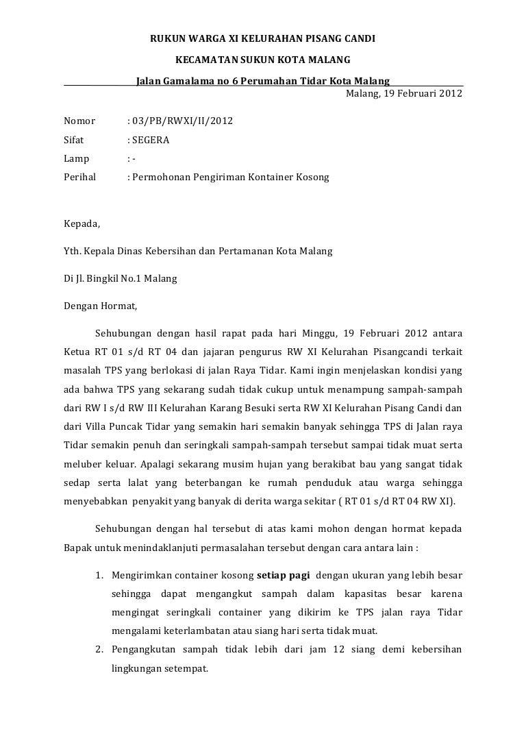 Surat Bak Sampah