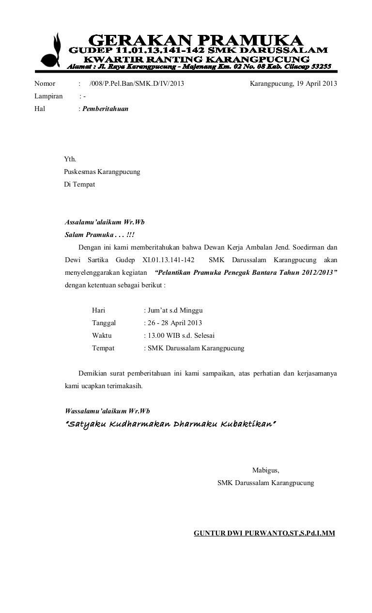 Surat Surat Pelantikan Bantara