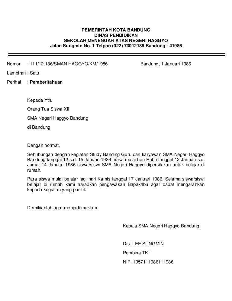 Surat Dinas 2
