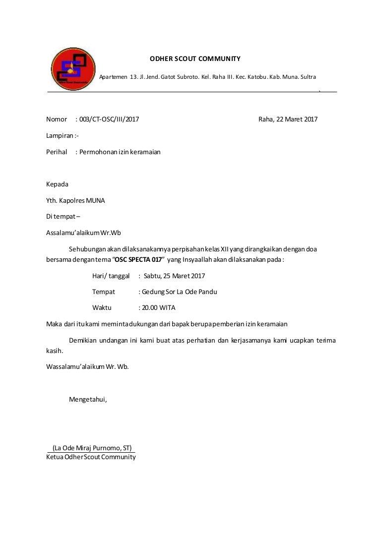 Surat izin keramaian 2