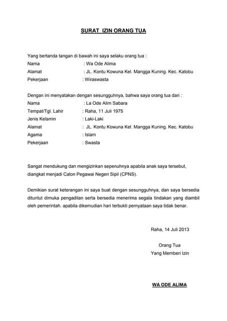 Contoh Surat Izin Kerja Shift Malam Dari Orang Tua Berbagi Contoh Surat