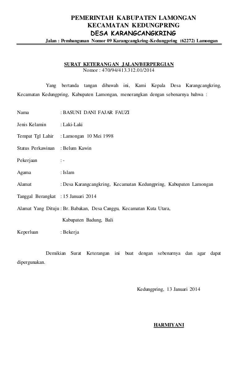 Surat Jalan Kwarran