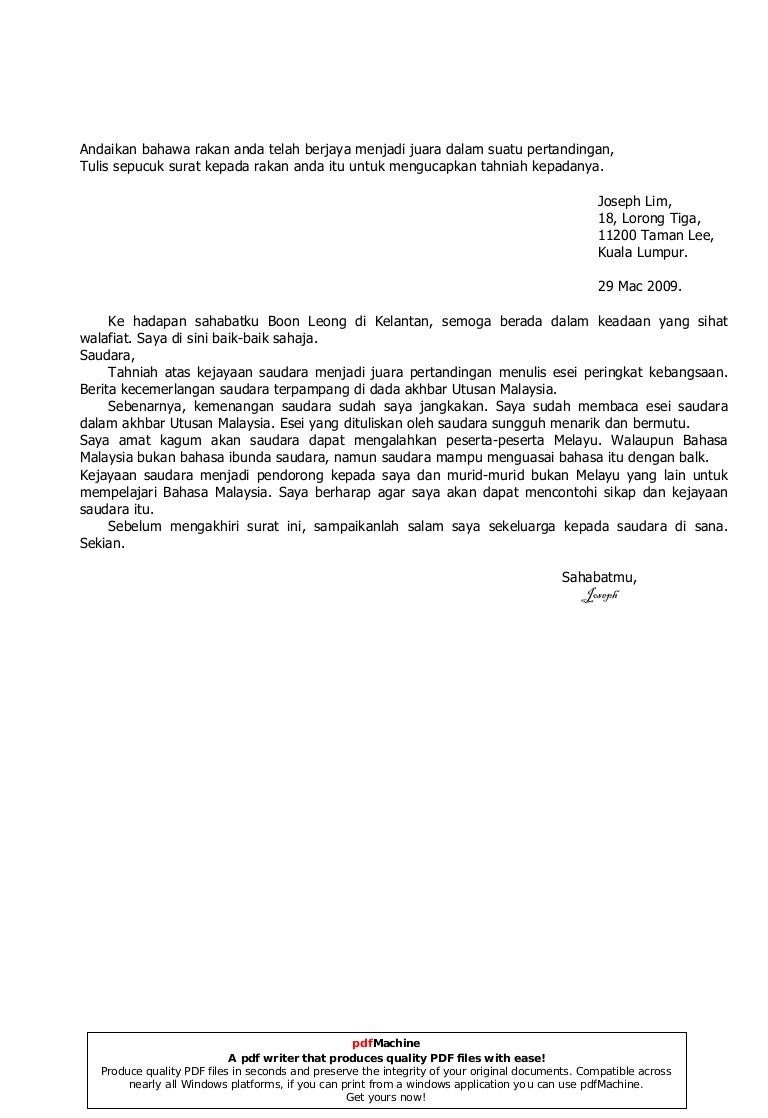 Surat Kiriman Tidak Rasmi 5