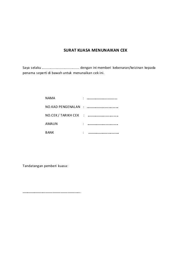 Contoh Surat Kuasa Wakil Malaysia Kumpulan Contoh Surat Dan Soal Terlengkap