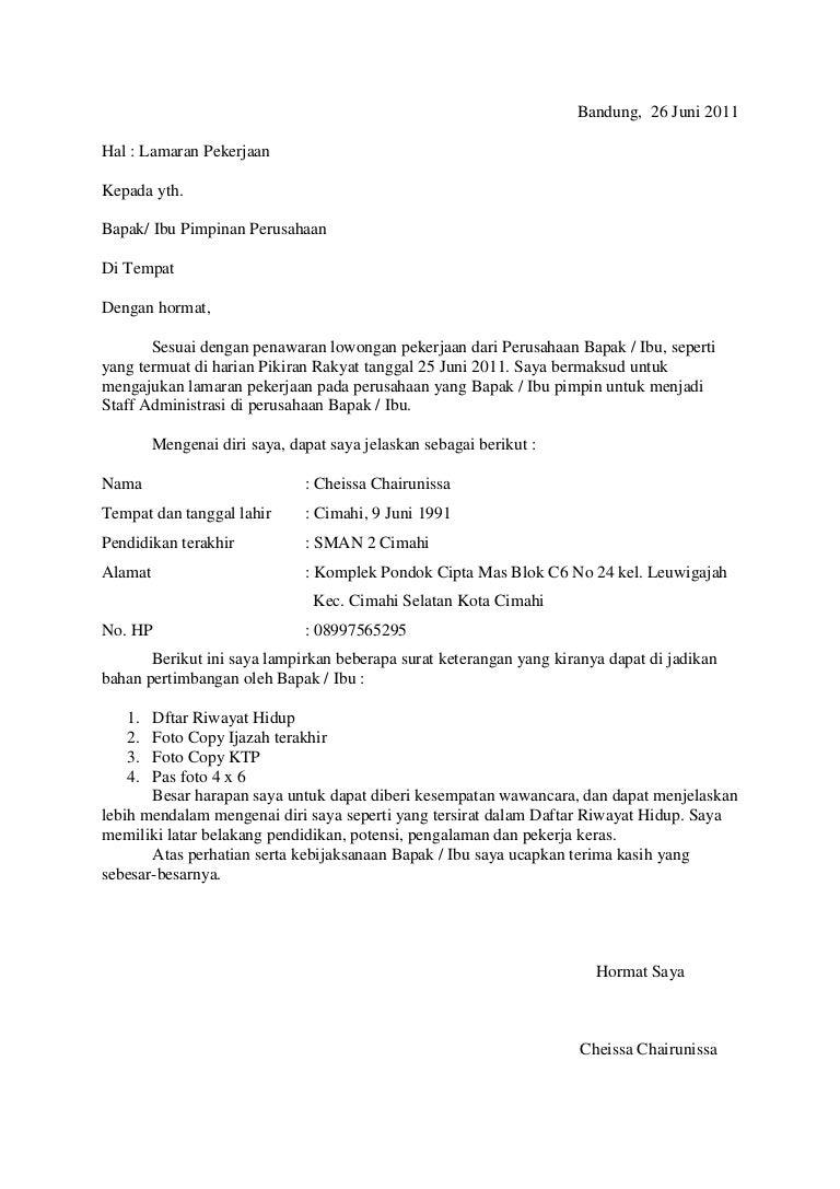 Surat Lamaran Umum
