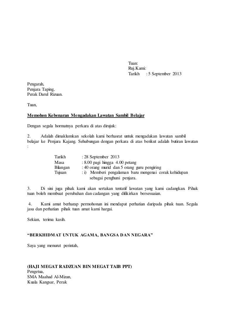 Surat lawatan penjara