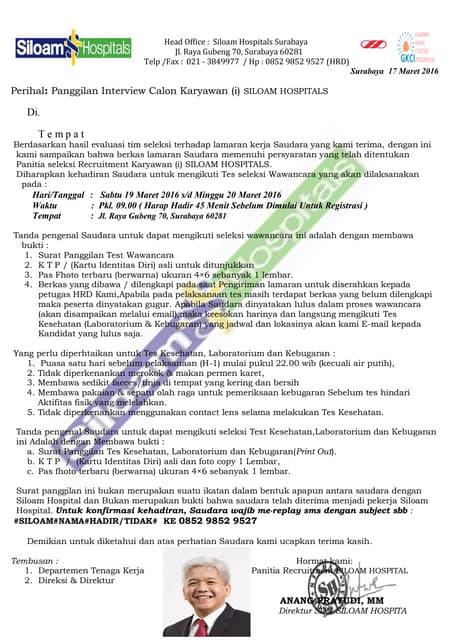 Contoh Surat Panggilan Kerja Penipu