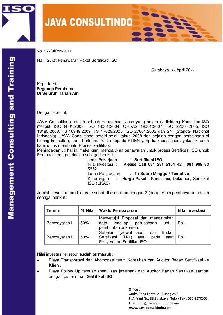 Konsultan ISO 9001, ISO 14001, OHSAS 18001, ISO 22000, TS ...