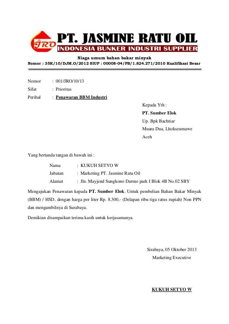 surat penawaran jro