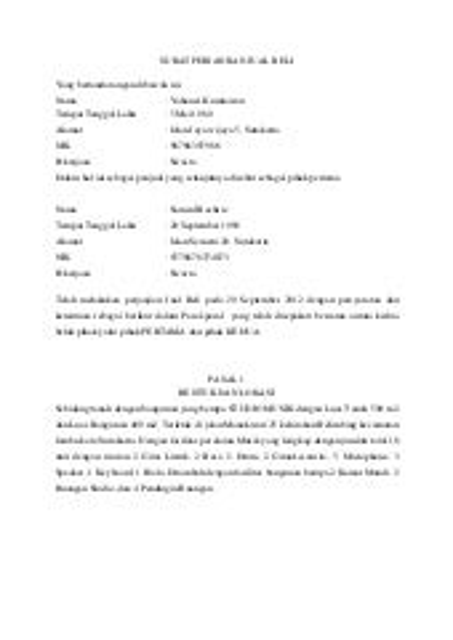 Contoh Surat Perjanjian Jual Beli Sepeda Motor