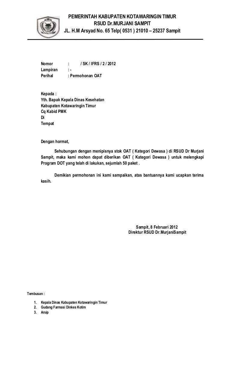 Contoh Surat Permohonan Dinas