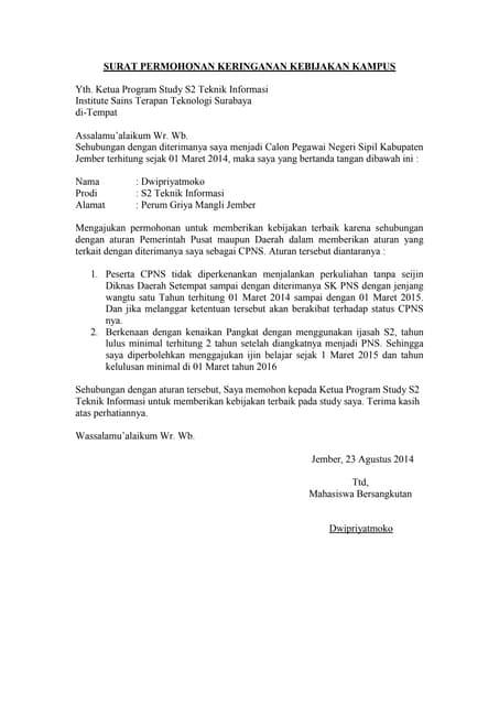 Surat Penurunan Ukt1 Ub
