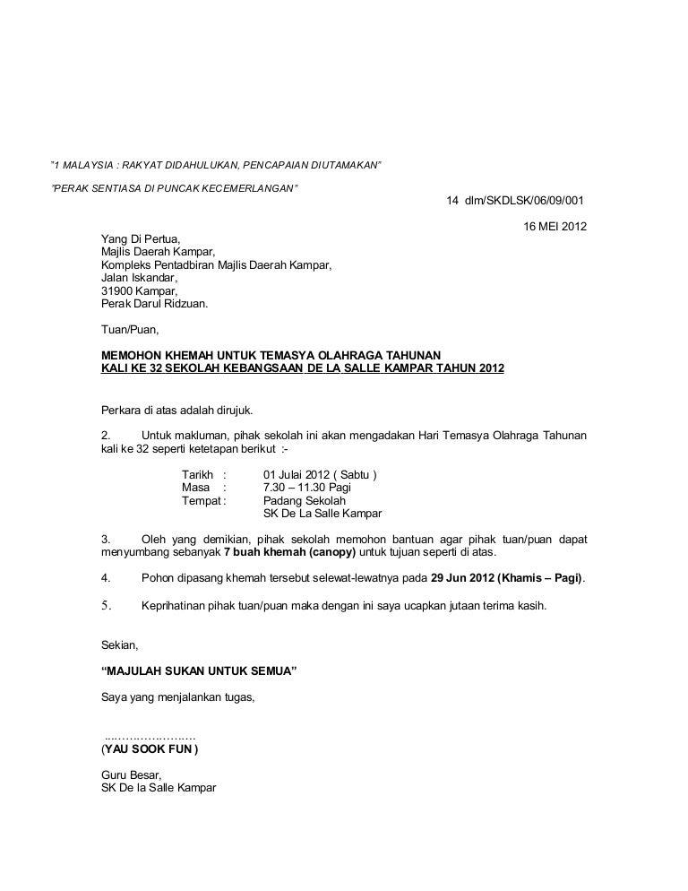 Surat Rasmi Gangguan Bekalan Air - Surat Rasmi B