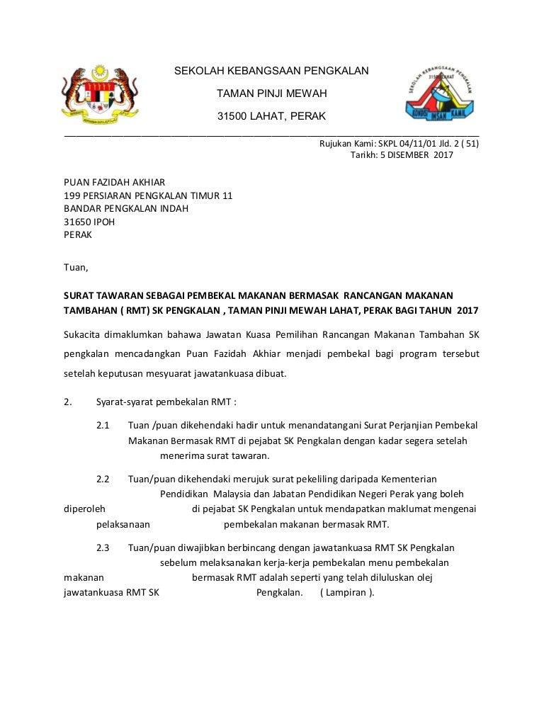 Surat Rasmi Tawaran Kerja Dari Majikan Selangor T