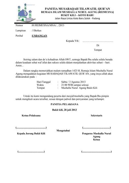 Surat Permohonan Juri Lomba
