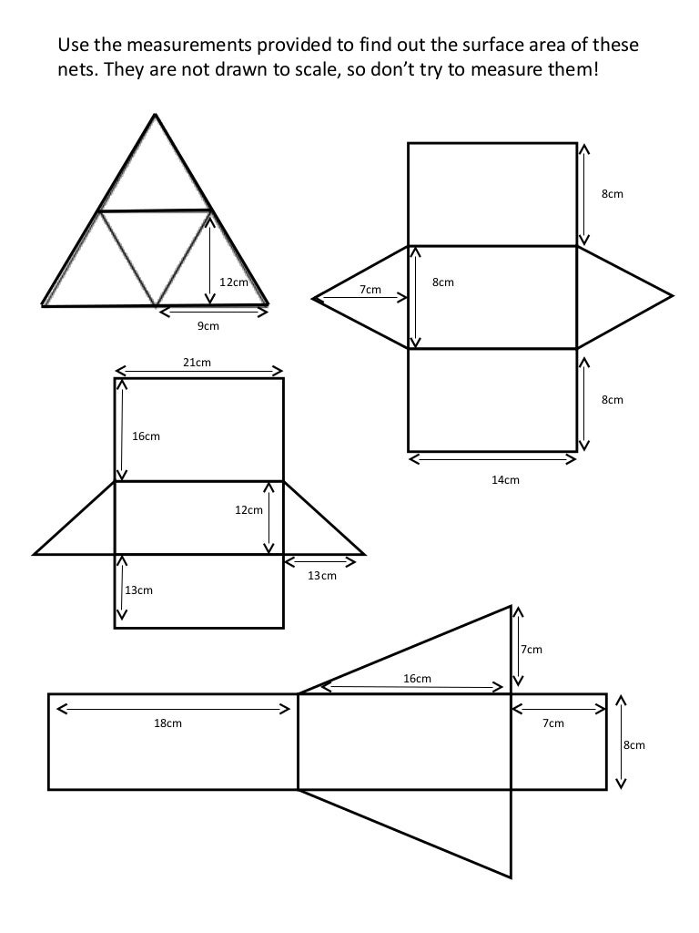 Surface Area Worksheets With Nets Worksheets for all | Download ...