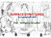 Surface Structures, including SAP2000