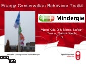 Energy Conservation Behaviour Toolkit