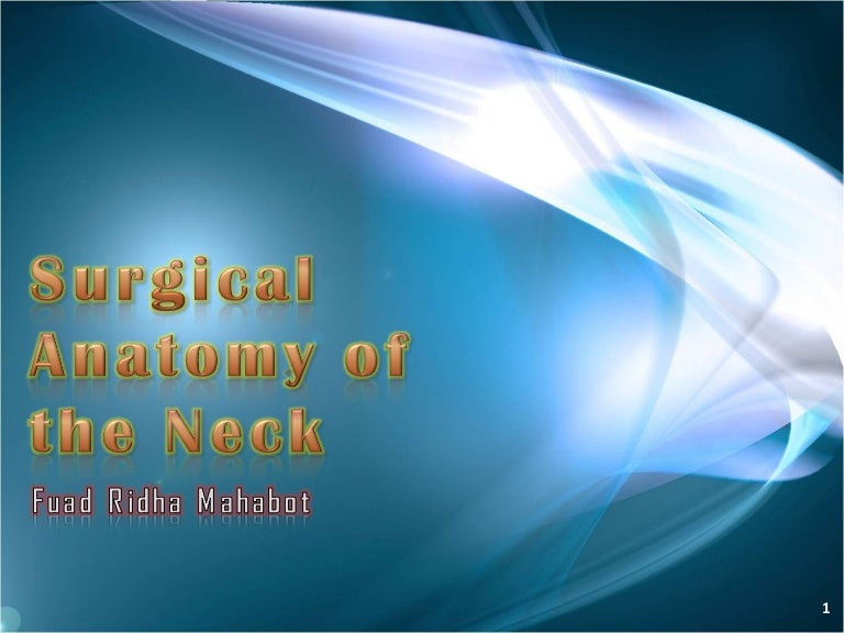 Surgical Anatomy Of The Neck