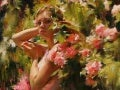 Surrounded by flowers (Michael and Inessa Garmash )