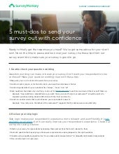 Checklist: Is your survey ready for takeoff?