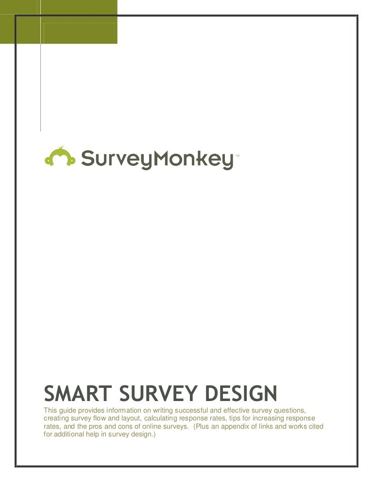 SurveyMonkey Smart Survey Design Guide – Survey Consent Form