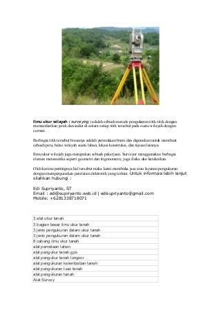 1 Land Surveyor - Surveyor Pemetaan Kota Administrasi Jakarta Timur Daerah Khusus Ibukota Jakarta