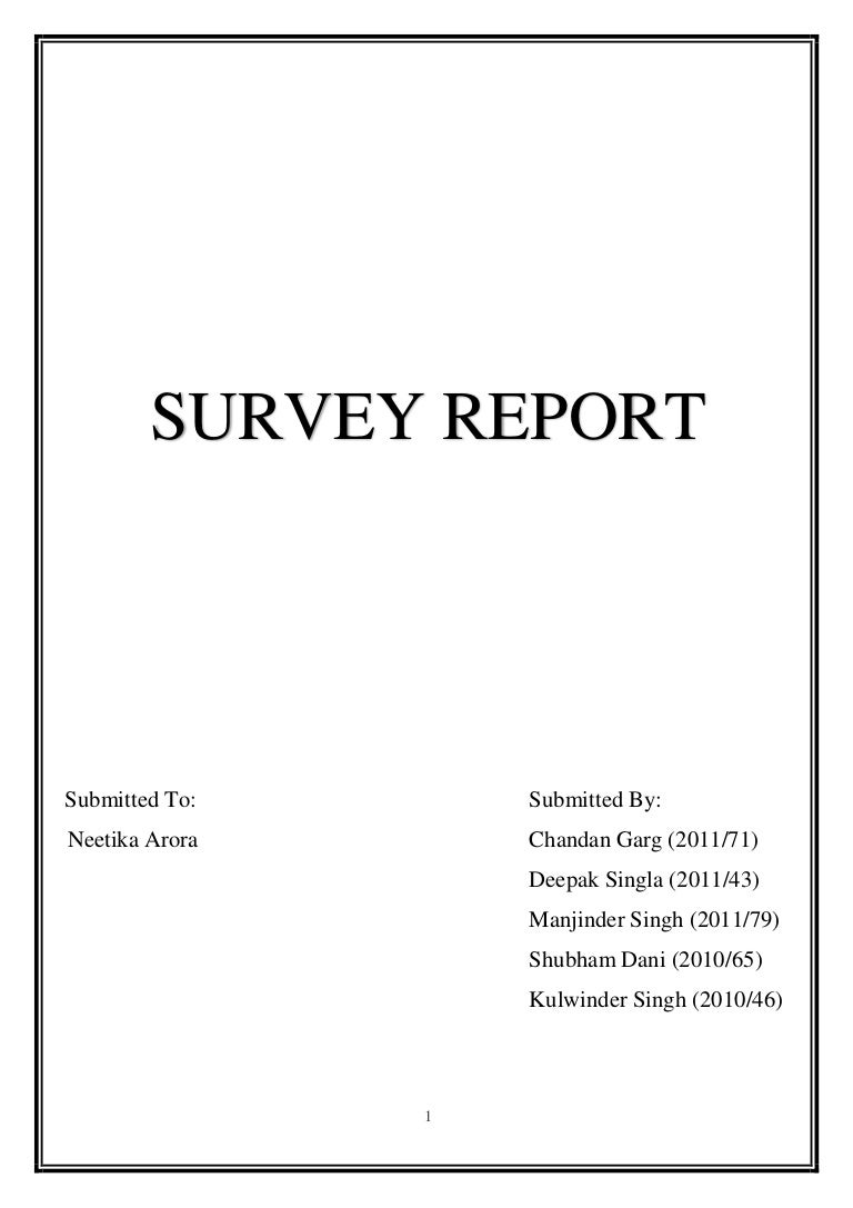 Survey Report On House Wiring Materials